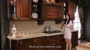 Cherry Wood Kitchen Cabinets High End Cherry Wood Kitchen Cabinet From Oppein Youtube