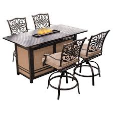target patio bar set. Exellent Patio Traditions 5pc Metal Patio Bar Set W Fire Pit Table  Tan Hanover To Target C
