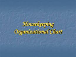 Ppt Housekeeping Organizational Chart Powerpoint