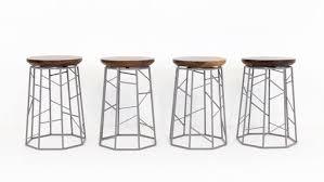 set of 4 bar stools. Hand Made Modern Walnut And Powdercoated Steel Geometric Barstools Inside Bar Stools Set Of 4 Remodel 16 H