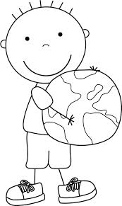 Earth is the only habitable planet discovered in our cute earth day coloring picture: Kid Color Pages Earth Day For Boys