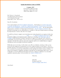 Ideas Of Sample Business Introduction Letter Template With Summary