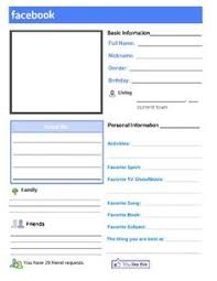 facebook template for student projects. Faux facebook worksheet template about me 1379232 Myscres
