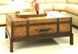 farmhouse end table with storage coffee and end table sets trunk coffee table set living room
