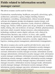 Fields related to information security manager .