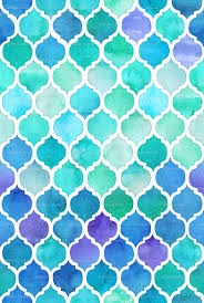 Blue Pattern Wallpaper Magnificent Blue And Green Moroccan Pattern Wallpaper Micklyn Spoonflower