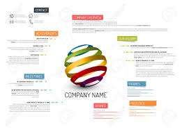Company Overview Templates Stock Vector Vector Company Company Profile Template