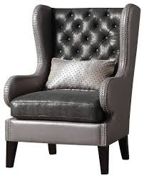 attractive faux leather accent chair nail on wanelo