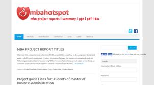 Visit Mbahotspot Com Mba Project Reports Download L Samlpe