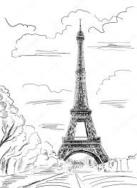 Pařížská Ulice Eiffelova Věž Ilustrace Stock Fotografie Zoomteam