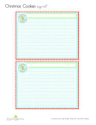 Christmas Recipe Card Christmas Cookie Recipe Card Frog Prince Paperie