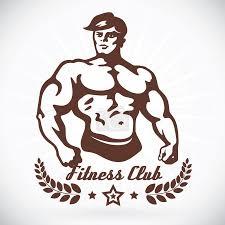 Vektor Kulturista Fitness Model Ilustrace Znamení Symbol Tlačítko