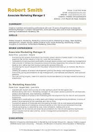 Marketing Manager Resume Extraordinary Associate Marketing Manager Resume Samples QwikResume