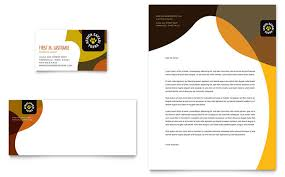 African Safari Business Card Letterhead Template Design