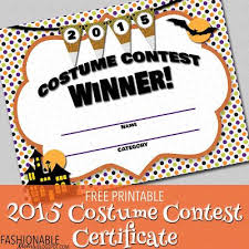 Costume Contest Certificate Template Free Printable Costume Contest Certificate In 2019