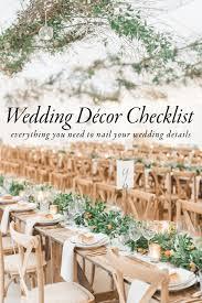 Wedding Detail Checklist