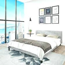 decoration: Low Profile Bed Frame Queen Upholstered King Wood. Low ...