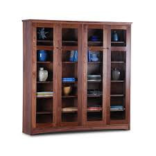 bookcase with glass doors double scott