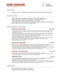 Professional resume nurses