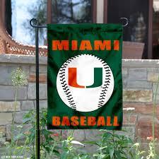 details about miami canes baseball garden flag