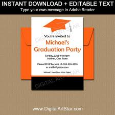 Corporate Invitation Template Gorgeous Graduation Party Invitation Template High School Graduation Etsy