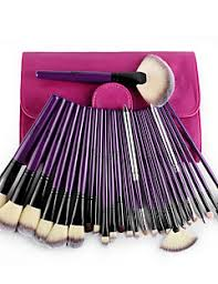 msq 24 makeup brushes set nyloneco friendly horse hair limits bacteria