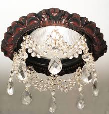 recessed light trim embellished with 3 strands of faceted crystals and 1 1 2