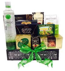 green with envy vodka gift basket ciroc apple gift basket ciroc apple gift baskets