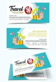 travel voucher template free vector gift travel voucher template hot air balloons in the
