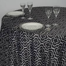 black gatsby lamour satin tablecloth