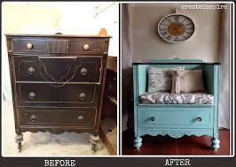 furniture repurpose. 4 dresser to bench furniture repurpose e