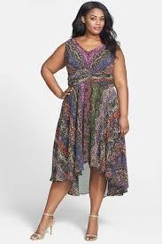 Ivy Blu Print Sleeveless High Low Dress Plus Size Nordstrom Rack