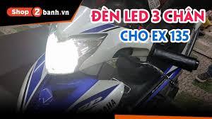 Gắn đèn Led 3 chân cho Exciter 135 tại Shop2banh - YouTube