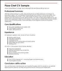 baker cv pizza chef cv sample myperfectcv