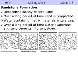 Sandstone Grain Size Chart Quick Write Get The Sandstone You Made And Create Two T
