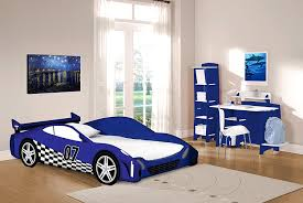 Amazon.com: Legar Furniture Race Car Twin Bed Frame, Kids Bed Furniture,  Blue and White, No Tools Required: Kitchen & Dining