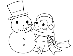 Print snowman coloring pages for free and color our snowman coloring! Printable Penguin Building A Snowman Coloring Page