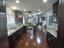 Wood Floors In Kitchen Vs Tile This Contemporary Kitchen Renovation Blends Dark Cabinets And