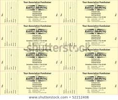 2 part raffle tickets raffle ticket 2 part vector template stock vector royalty free