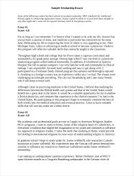 Free 9 Scholarship Essay In Pdf Letter Format Template Copy