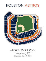 Houston Astros Baseball Map Mlb Stadium Map Ballpark Map Baseball Stadium Map Gift For Him Stadium Seating Chart Man Cave