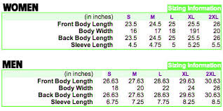 Size Chart Slammed Aircouture Clothing Rollin Low