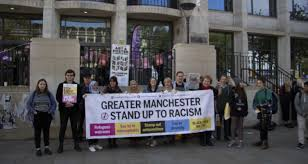 'extremist' Outside Identity Manchester Generation Demonstrate Quota University Against Anti-racism The Campaigners Of Northern