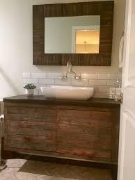 Barnwood Bathroom Bathroom Rustic Barnwood Bathroom Vanity Shelf With Door And
