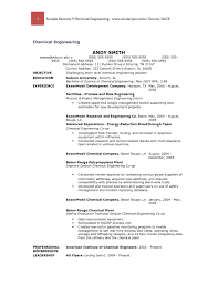 Entry Level Chemical Engineering Resume 5 Invest Wight