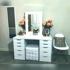 how to build your own makeup vanity step by instructions at a diy table ideas