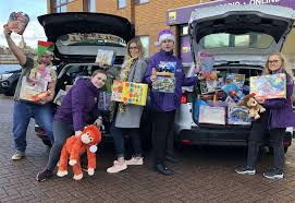 kmfm Christmas toy appeal A Shed Load of Toys collects hundreds of gifts  for children