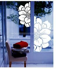 pvc big window rose stickers glass doors paste living marriage room balcony women s clothing window stickers high quality stickers lug china stickers