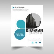 Blue Creative Annual Report Book Cover Template Vector