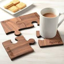 i am sure you would like these table mats these are made of wood and are perfect for gifts in the evening you can keep the coffee mugs on these mats and